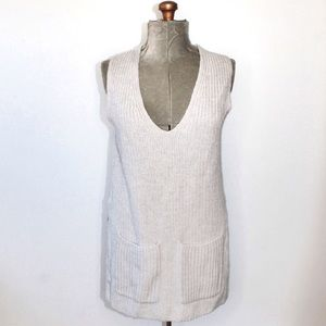 NWOT Wilfred Grey Knit Tunic Sweater With Pockets
